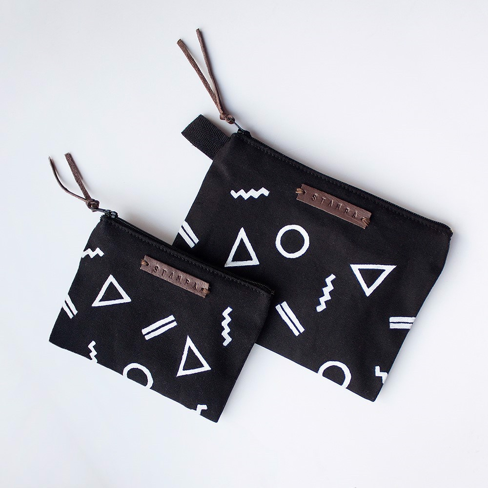 Picture of Black Shape Zipper Pouch