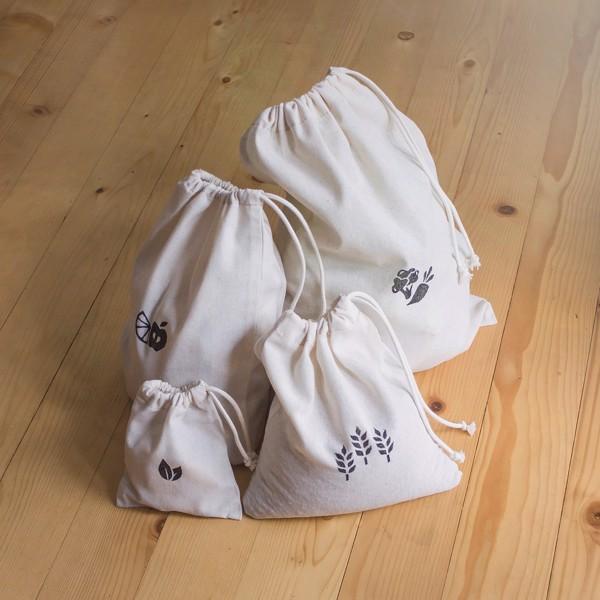 Снимка на Kомплект памучни торбички за пазар
