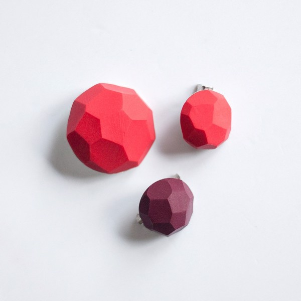 Picture of Red Berries Brooch set 'Stones'
