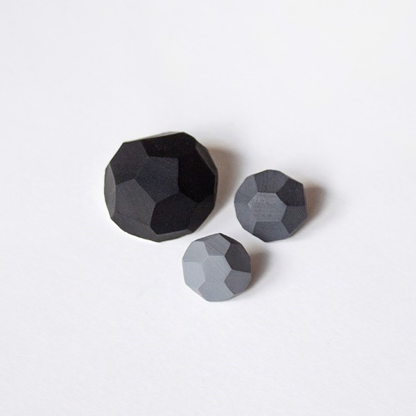Picture of Monochrome Brooch set 'Stones'