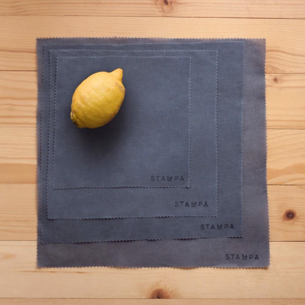 Снимка на 4бр Восъчни платчета за многократно увиване на храна - Сив сет