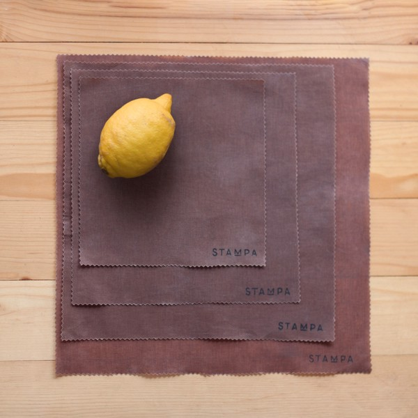 Снимка на 4бр Восъчни кърпи за многократно увиване на храна - Сет шоколад