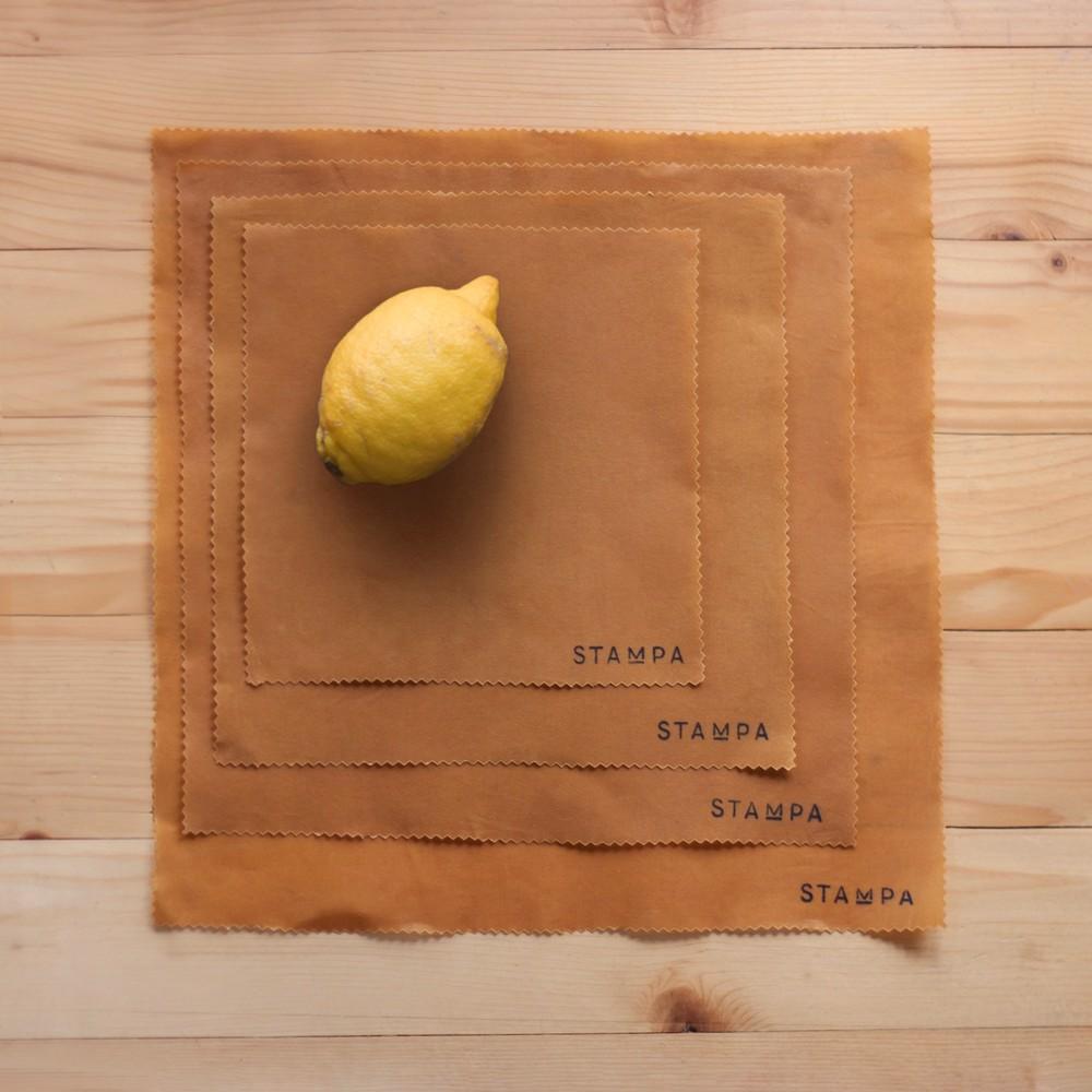 Снимка на 4бр Восъчни платчета за многократно увиване на храна - Сет горчица