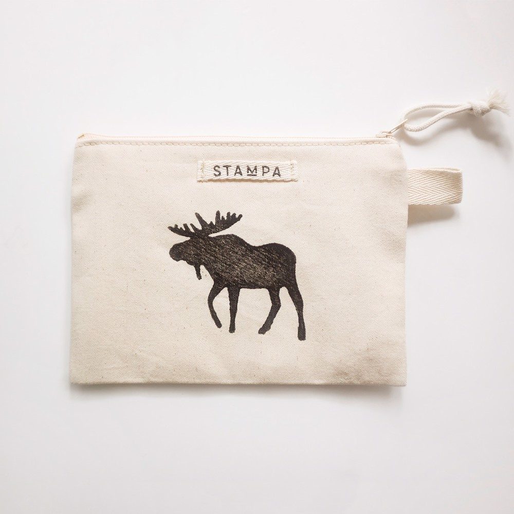 Picture of Moose Zipper Vegan Pouch