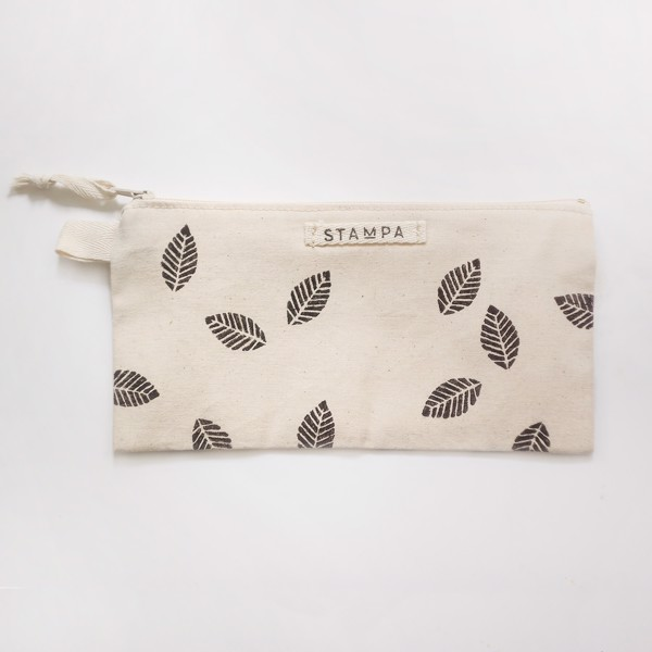 Picture of Leaves Zipper Vegan Pouch