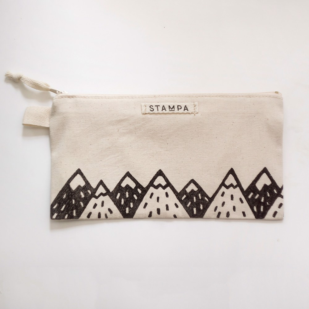 Picture of Long Mountains Zipper Vegan Pouch