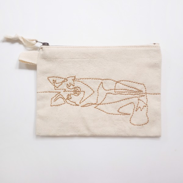 Picture of Foxy Zipper Vegan Pouch
