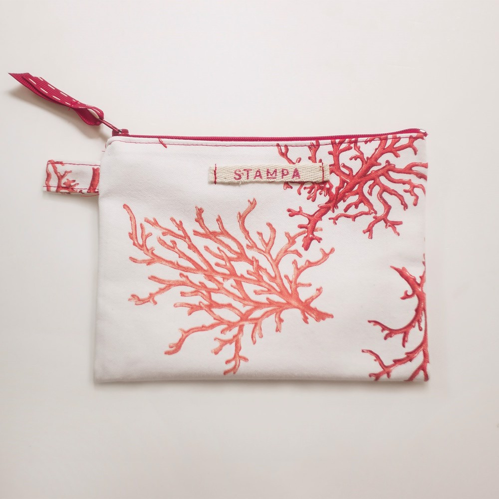Picture of Coral Zipper Vegan Pouch