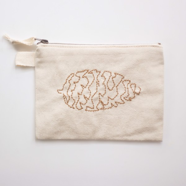 Picture of Pinecone Zipper Vegan Pouch
