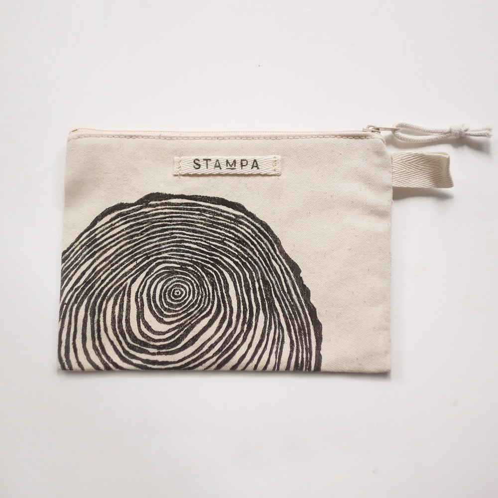 Picture of Wood Zipper Vegan Pouch