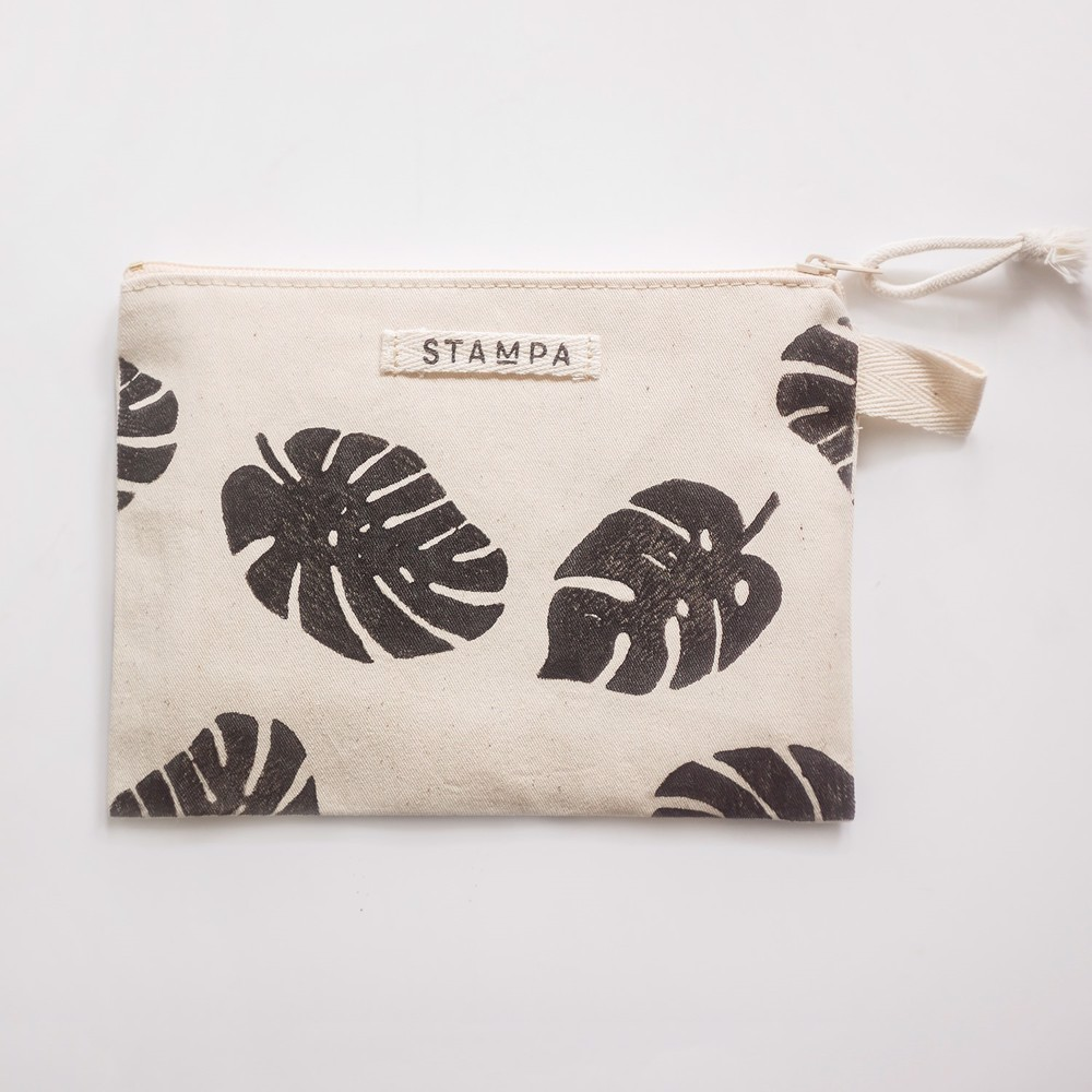 Picture of Monstera Zipper Vegan Pouch