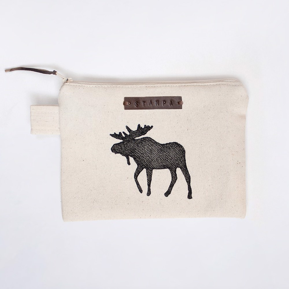Picture of Moose Zipper Pouch