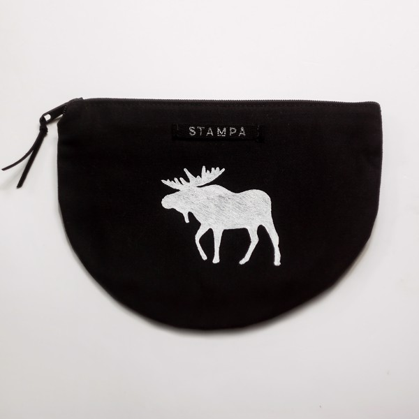 Picture of Halfmoon Moose Zipper Vegan Pouch