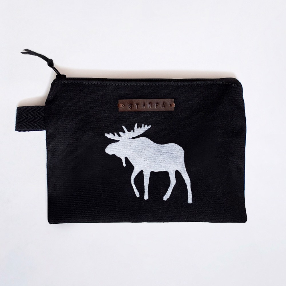 Picture of Black Moose Zipper Pouch