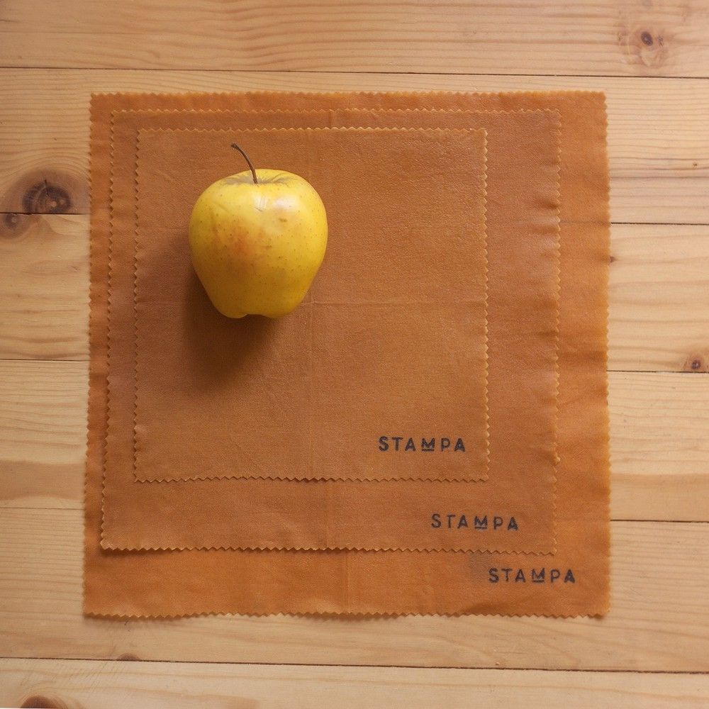 Picture of 3pcs Reusable Beeswax Food Wraps - Mustard Set