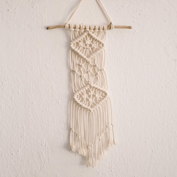 Picture of Macrame wall hanging - cotton & wood