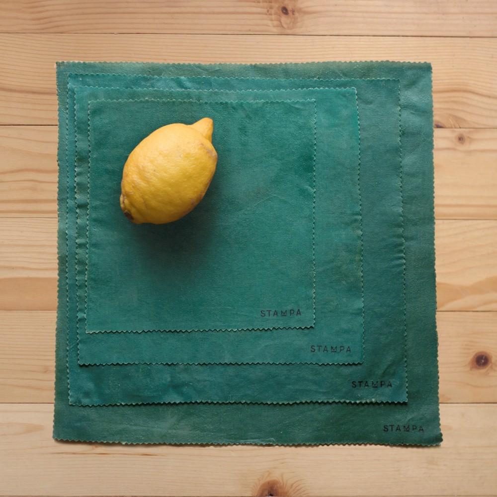 Снимка на 4бр Восъчни платчета за многократно увиване на храна - Сет бор