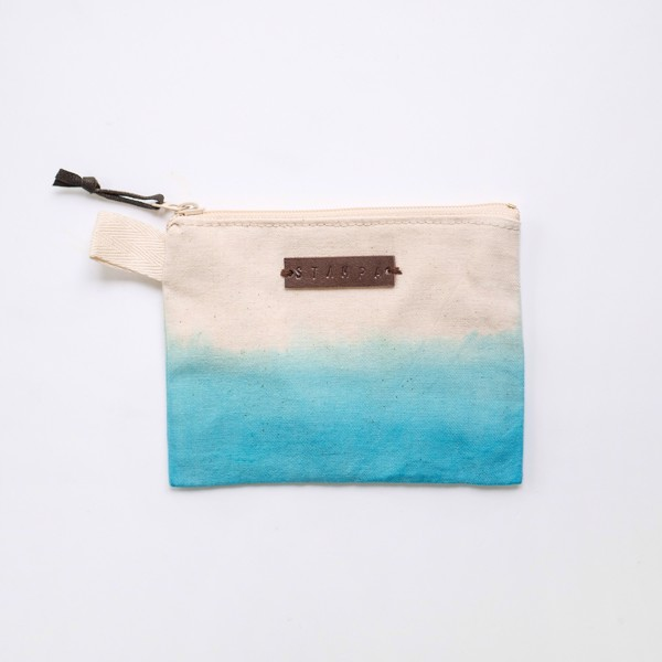 Picture of Small Turquoise Zipper Pouch