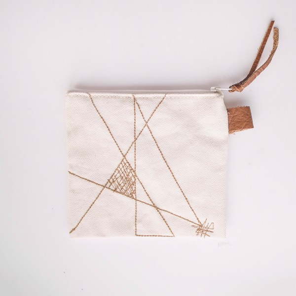 Picture of Geometric Light Zipper Pouch