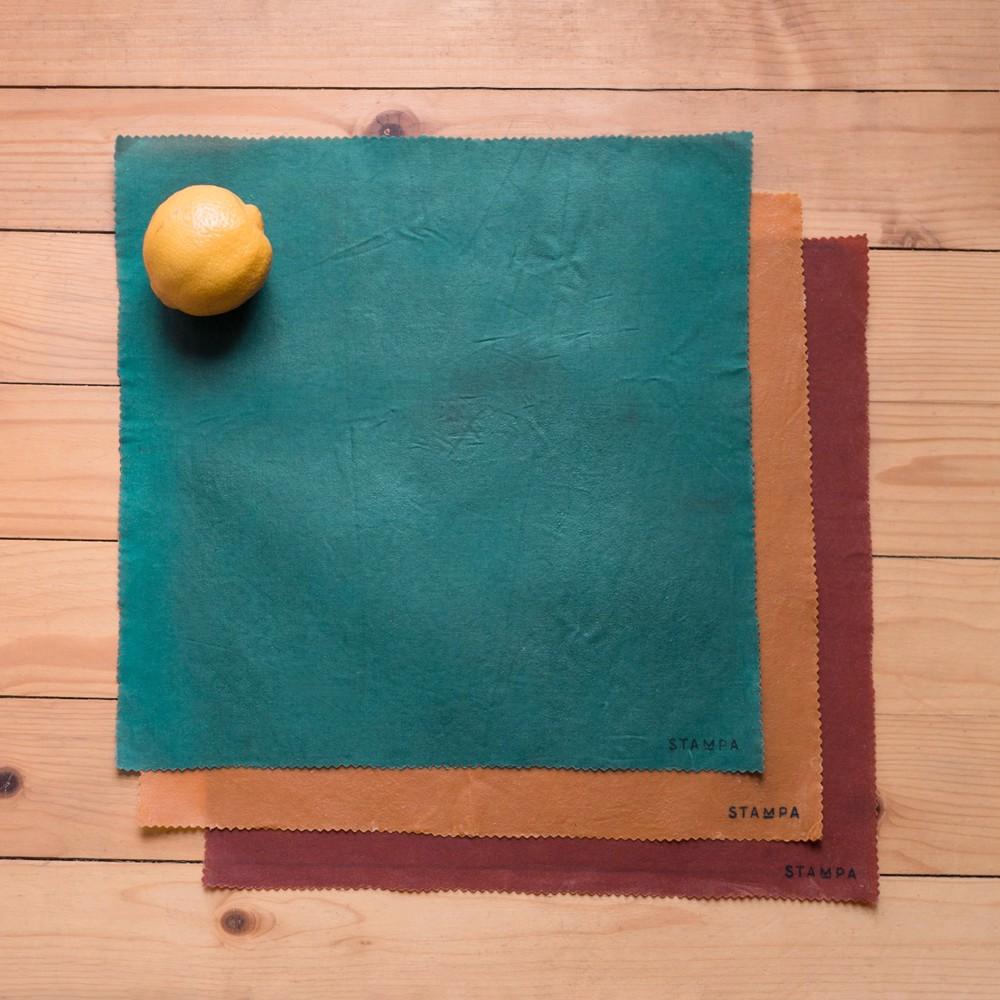 Снимка на 3бр Восъчни кърпи за многократно увиване на храна - Цветен Сет