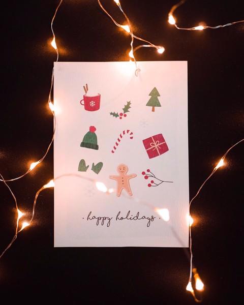 Снимка на Зимна поздравителна картичка