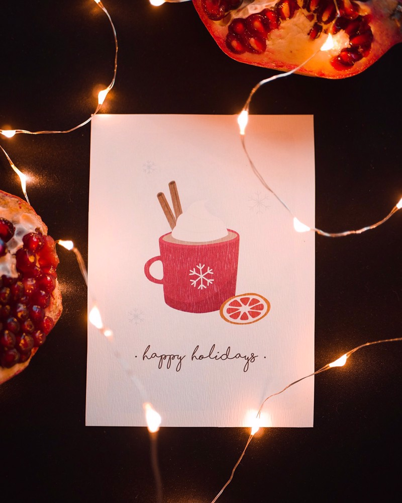 Picture of Winter Beverage Greeting Card