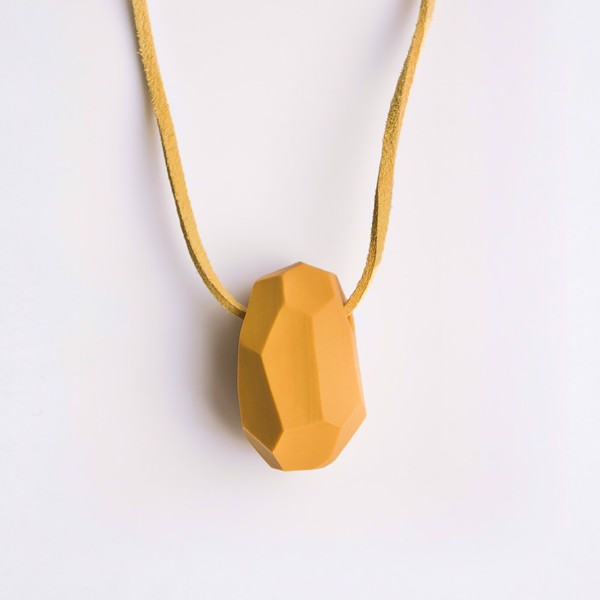 Picture of Mustard Necklace 'Stones'