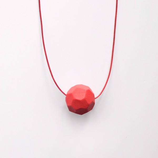 Picture of Small Strawberry Necklace 'Stones'