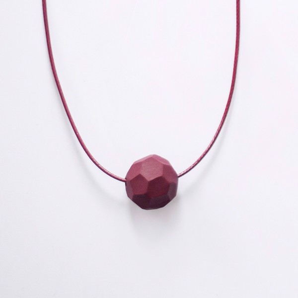 Picture of Small Wine Necklace 'Stones'