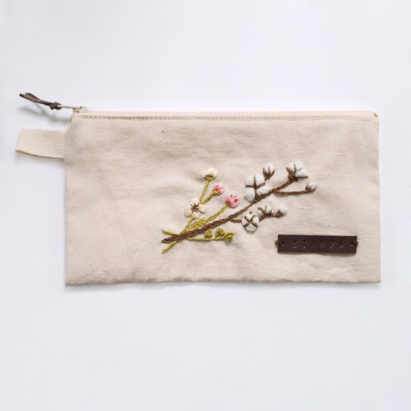 Picture of Spring Embroidery Zipper Pouch