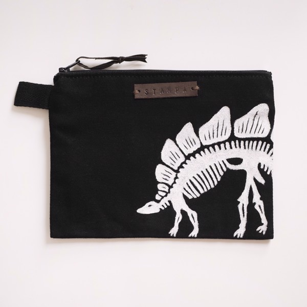 Снимка на Black Dino Zipper Pouch