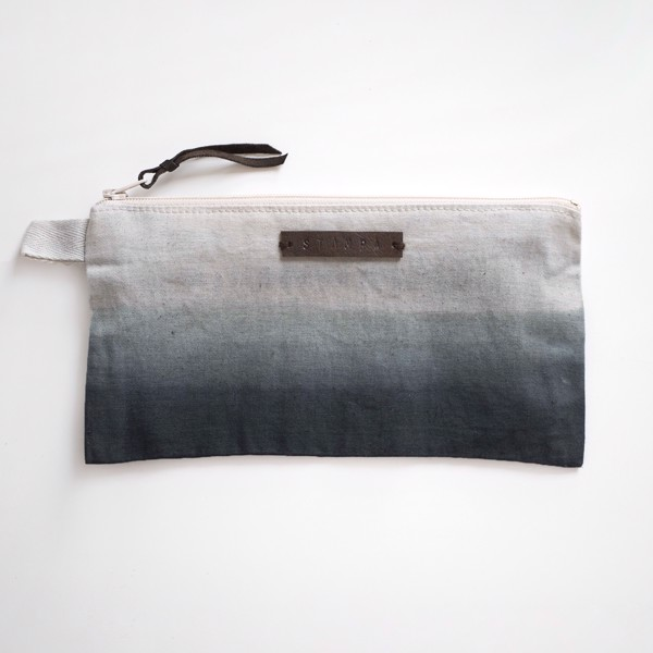 Picture of Long Graphite Gradient Zipper Pouch