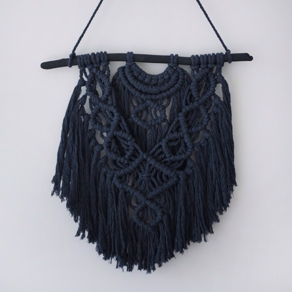 Picture of Large Graphite Macrame Wall Hanging