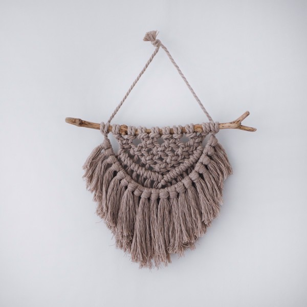 Picture of Small Beige Macrame Wall Hanging