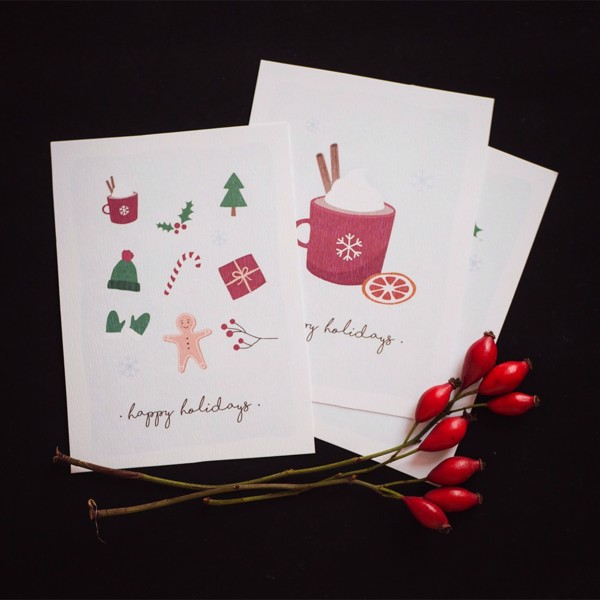 Picture of Set of 3 Christmas Greeting Cards