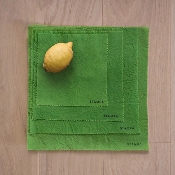 Picture of 4pcs Reusable Beeswax Food Wraps - Grass Set