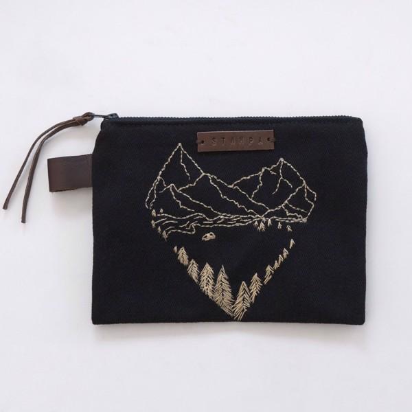 Picture of Black Landscape Zipper Pouch