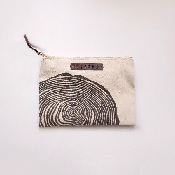 Picture of Small Wood Zipper Pouch