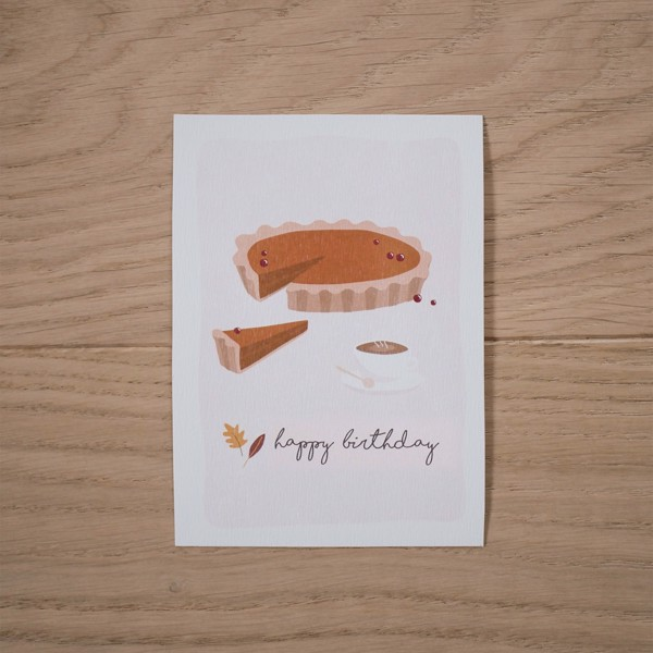 Picture of Pumpkin pie Greeting Card
